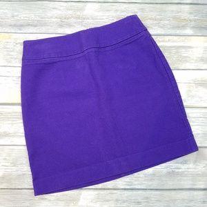 BANANA REPUBLIC Purple Denim Pencil Skirt